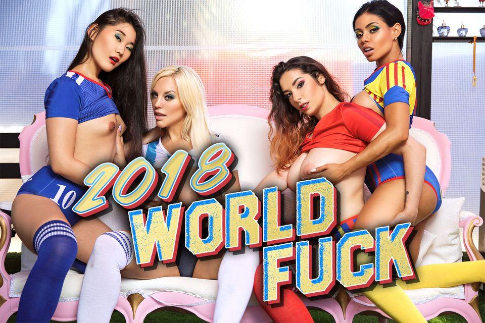 2018 World Fuck with Blondie Fesser, Zenda Sexy, Katana, Canela Skin – BaDoinkVR