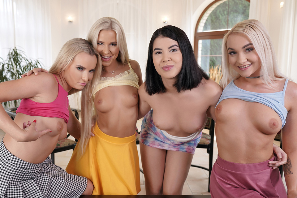 High School Quartet with Lady Dee, Lola Myluv, Marilyn Sugar, Victoria Pure – RealJamVR