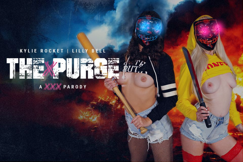 The Purge Is Cumming with Lilly Bell, Kylie Rocket – BaDoinkVR