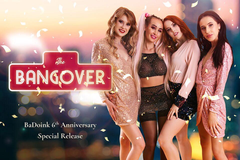 The Bangover with Charlie Red, Eyla Moore, Alyssa Bounty, Daisy Lee – BaDoinkVR